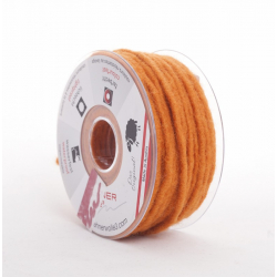 Cordelette Laine armée 5mm x 35m orange