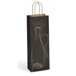 AMAZ - Sacs Kraft bouteilles 14 x 8 x h39 cm Par 25