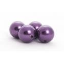 Perles Aubergine 24mm par 18