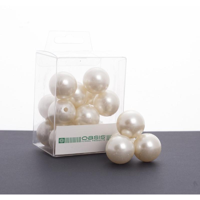 Perles Crème 24mm par 18