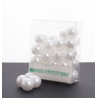 Perles 20mm Blanches
