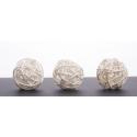 BOULE ROTIN - Sphère Rotin D4 cm Blanc par 24