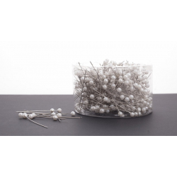 Epingle Perle 6mm Blanc (x500)