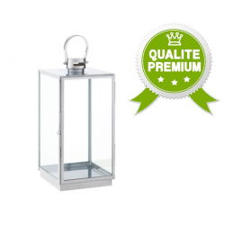 Lanterne Inox 22,5 x 22 x h40 cm