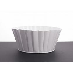 CAN Coupe zinc cannelée d20 h9 cm Blanc