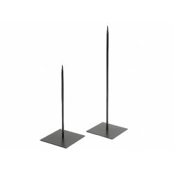 Support Métal Noir 18 x 18 x h60 cm