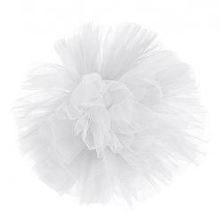 Boule Tulle d25 cm Blanc à suspendre