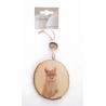 Rondelle Bois décoré d10 cm à suspendre
