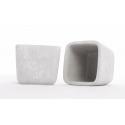 Cache Pot Ciment Carré 11.5X11.5Cm H10.5cm Par6