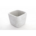 PATTY - Cache Pot Ciment Carré L11 x P11 x H9 cm Par 6