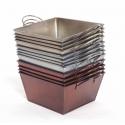 PATINE - Coupe carrée zinc 15.5x15.5 h9cm par 12