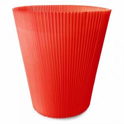 MANCHETTES 14.5 - Cache pot plissé par 100, Rouge