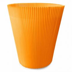 MANCHETTES 16.5 - Cache pot plissé par 100, Orange