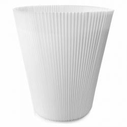 MANCHETTES 16,5 - Cache pot plissé par 100, Blanc