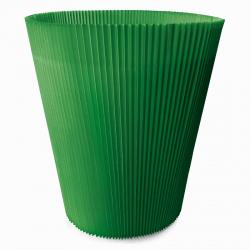 MANCHETTES 24.5 - Cache pot plissé par 10, Vert foncé
