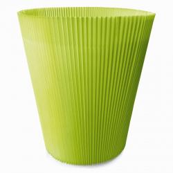 MANCHETTES 14.5 - Cache pot plissé par 100, Vert Pomme