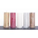 Bougie pilier d6.8 h18 cm Argent