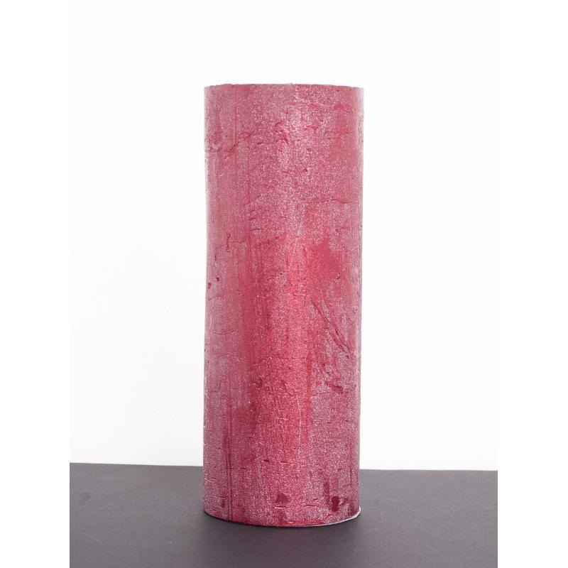 Bougie pilier d6.8 h18 cm Rouge