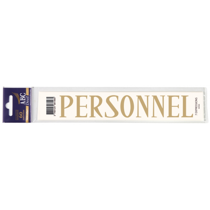 Lettre Deuil PERSONNEL Pochette