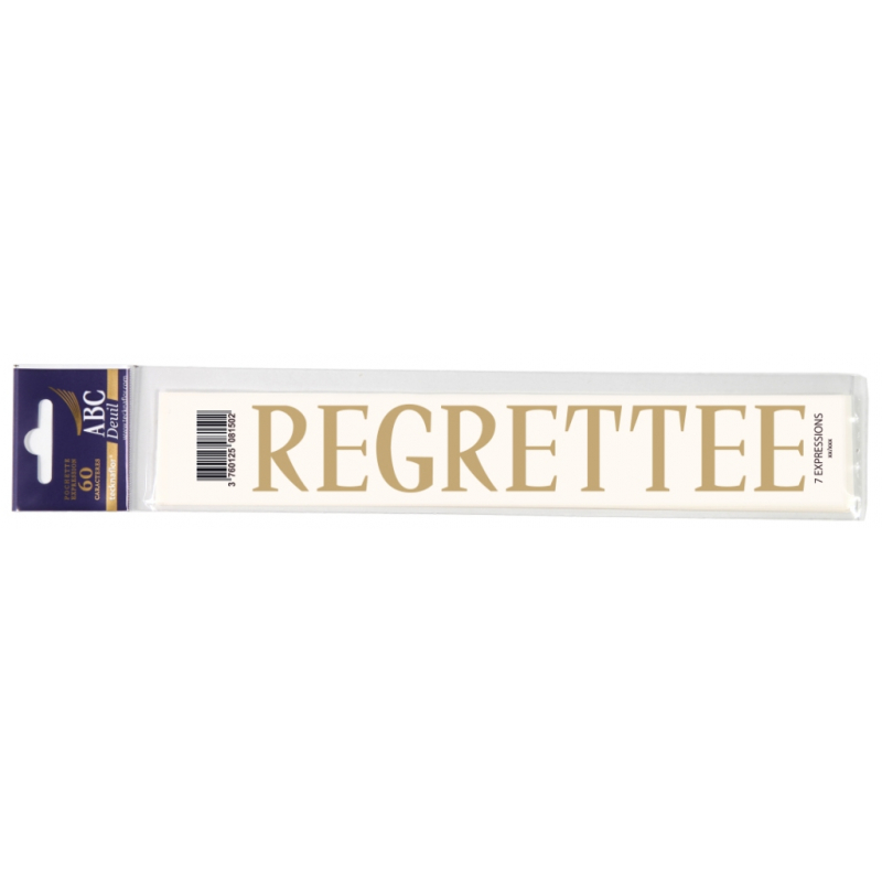 Lettre Deuil REGRETTEE Pochette