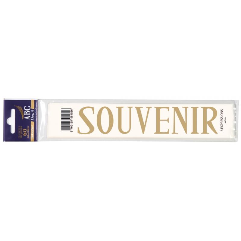 Lettre Deuil SOUVENIR Pochette