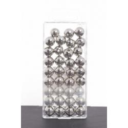 Argent Métallique - D14 mm Par 35 Perles