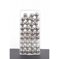 Perles Métalliques Argent 14mm par 35