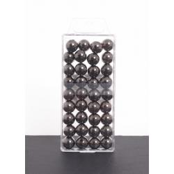 Perles Métalliques Anthracite 14mm par 35