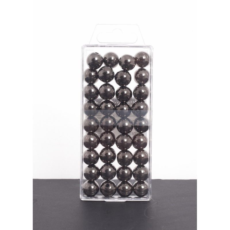 Anthracite Métallique - D14 mm Par 35 Perles
