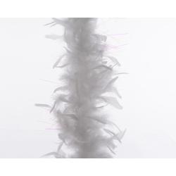 Guirlande de plumes pailletée Blanc 184 cm