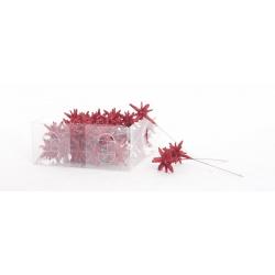 3D - Etoile sur pique Rouge d 3cm par 36