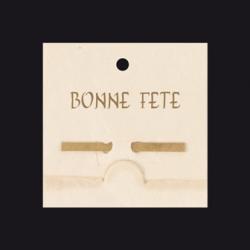 Carte Voeux Double par 10 Mini Bambou Bonne Fête