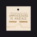 Carte Voeux Double par 10 Mini Bambou Félicitations Anniv.Mariage
