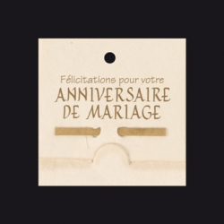 ANNIVERSAIRE DE MARIAGE - Carte Jeso Bambou