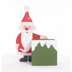 Père Noel en Bois avec Cont.Carré par 2