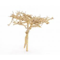 Dry Tree sur tige 10 cm Or...
