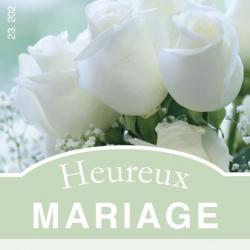 HEUREUX MARIAGE - Etiquettes Jeso