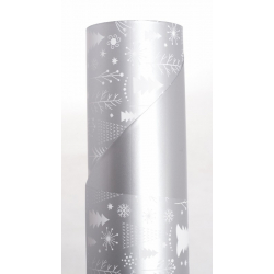 WONDERLAND - Opaline 0.8x40m Argent/Blanc