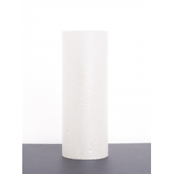 Bougie pilier d6.8 h12 cm Blanc