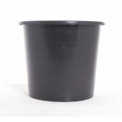 Seau plastique conique noir 5L