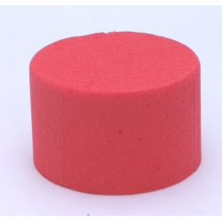 Cylindre Mousse 8cm Rouge Baroque x6