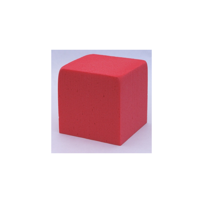Cube Mousse 10cm Rouge Baroque x3