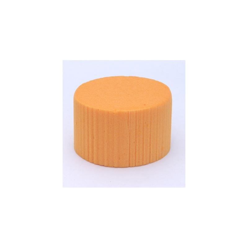 Cylindre Mousse 8cm Mandarine  x6