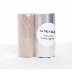 PIY - Rouleau Encreur 80mm x 30m Bleu
