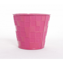 Pot zinc d.11.5 rose fluo par12