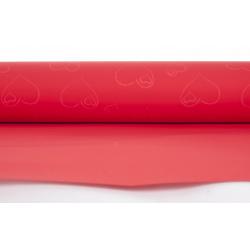 """Opaline """"Coeur"""" 0.8x40m Rouge"""