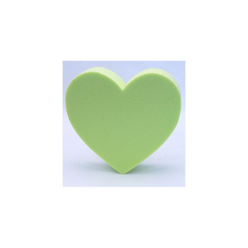 Coeur Mousse Vert Anis  x2