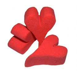 Mini Coeur mousse D5 Rouge (x25)