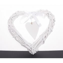 Coeur en Bois Blanc 25 cm...