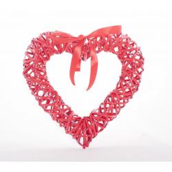 Coeur en Osier Rouge avec...